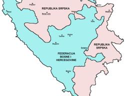 Dejtonski dogovor i njegova činjenična karta BiH.